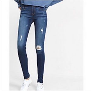 Express Distressed Super Soft Ankle Leggings 0